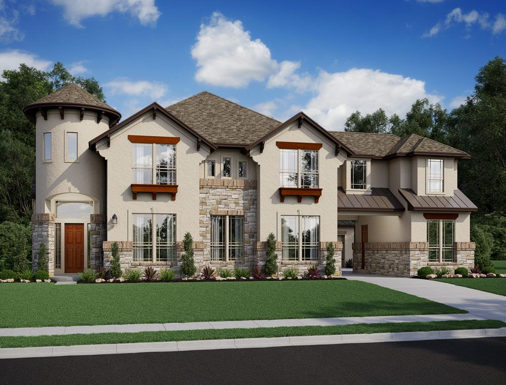 Exterior featured in the Champagne By Trendmaker Homes in Houston, TX