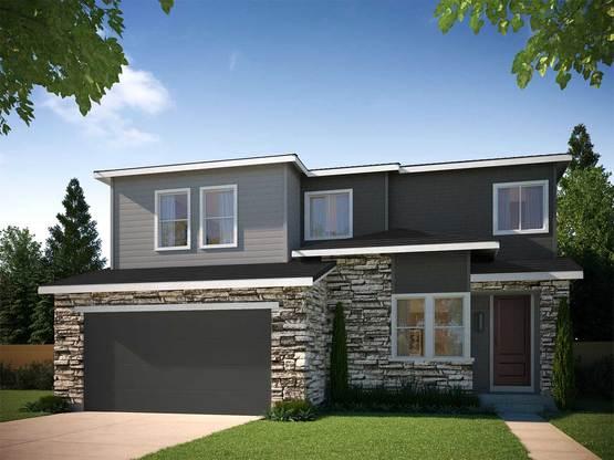 Residence 4003C:CONTEMPORARY PRAIRIE ELEVATION C ~ RESIDENCE 4003