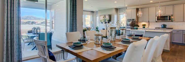 Residence 4025 - Model Home:Dining Room & Kitchen