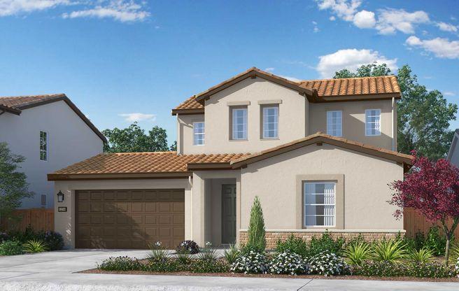 Exterior:Residence 2 Elevation: Adobe Ranch