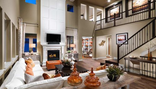 Greatroom-and-Dining-in-Residence 6005-at-Encore Collection at Whispering Pines-in-Aurora