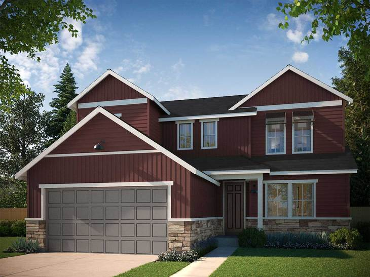Exterior:FARMHOUSE ELEVATION A ~ RESIDENCE 4006