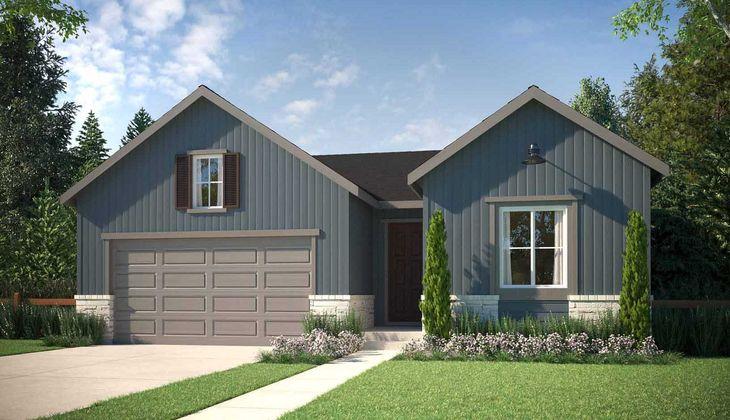 Exterior:Residence 4021 | Elevation A - Farmhouse