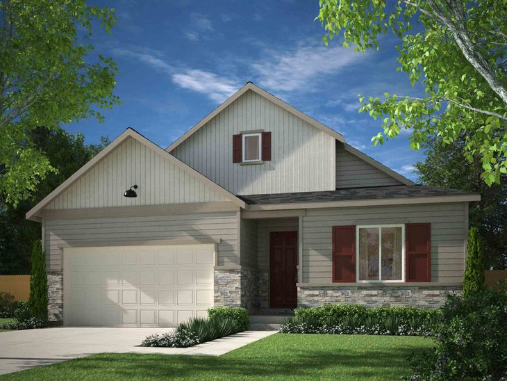 Exterior:Residence 4010 - Elevation A - Farmhouse