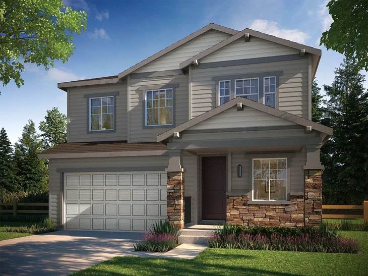 Prelude Collection at Ravenwood - Residence 3503B:CRAFTSMAN ELEVATION B ~ Residence 3503
