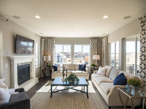 Greatroom-and-Dining-in-Residence 4007-at-Debut Collection in Ravenwood Village at Terrain-in-Castle Rock