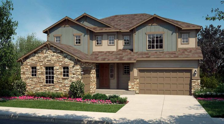 Exterior:Residence 5006 - Elevation A - Colorado Mountain