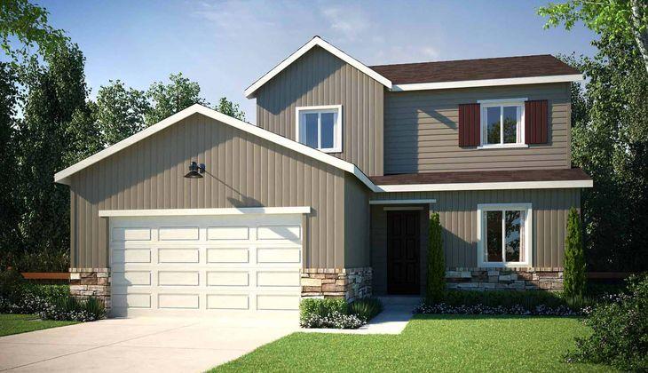 Exterior:Residence 4023   Elevation A - Farmhouse