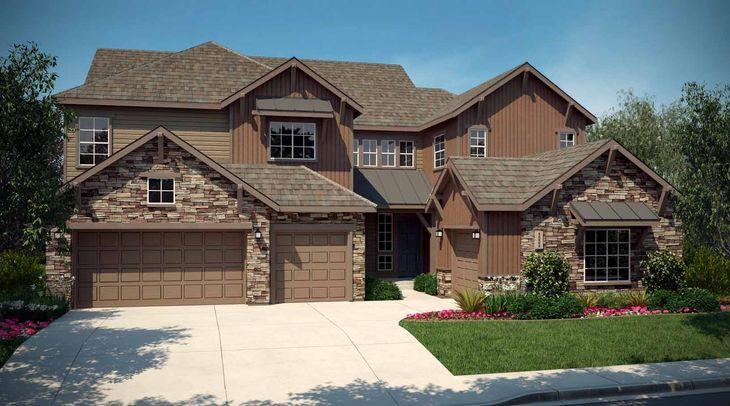 Exterior:Residence 6005 - Elevation A - Colorado Mountain