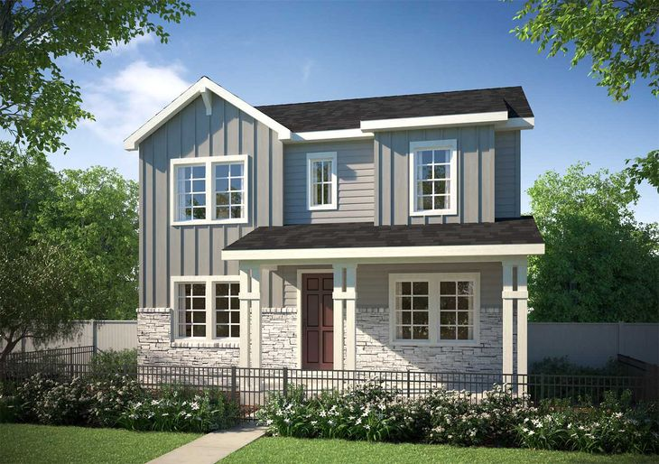 Crescendo Collection at Crown Point | Residence 32:Farmhouse Architecture
