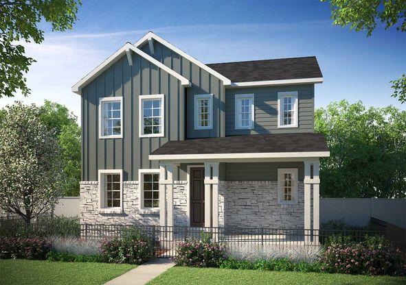 Exterior:Residence 3203 - Farmhouse Style Exterior