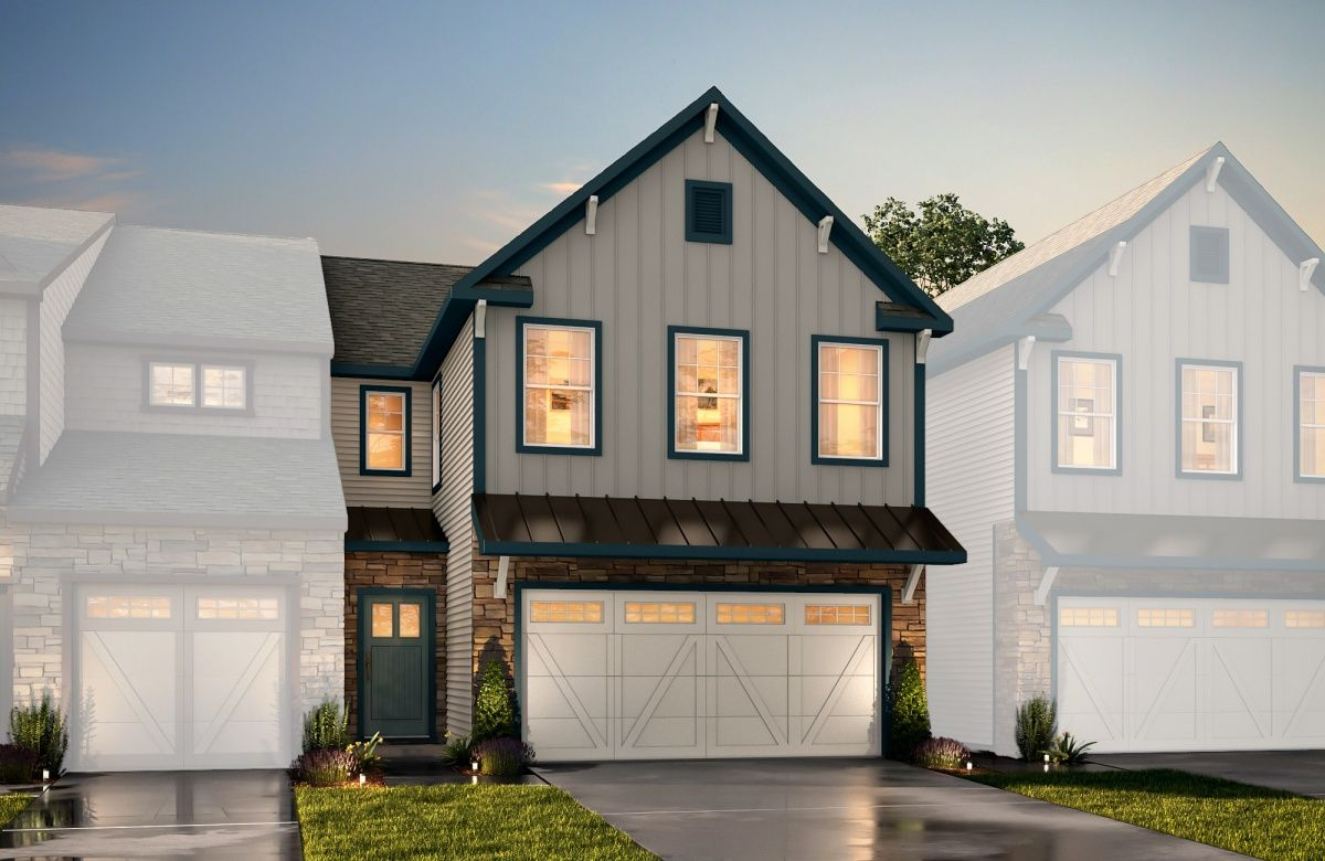 Exterior featured in The Elon THWNT By True Homes - Charlotte in Charlotte, SC