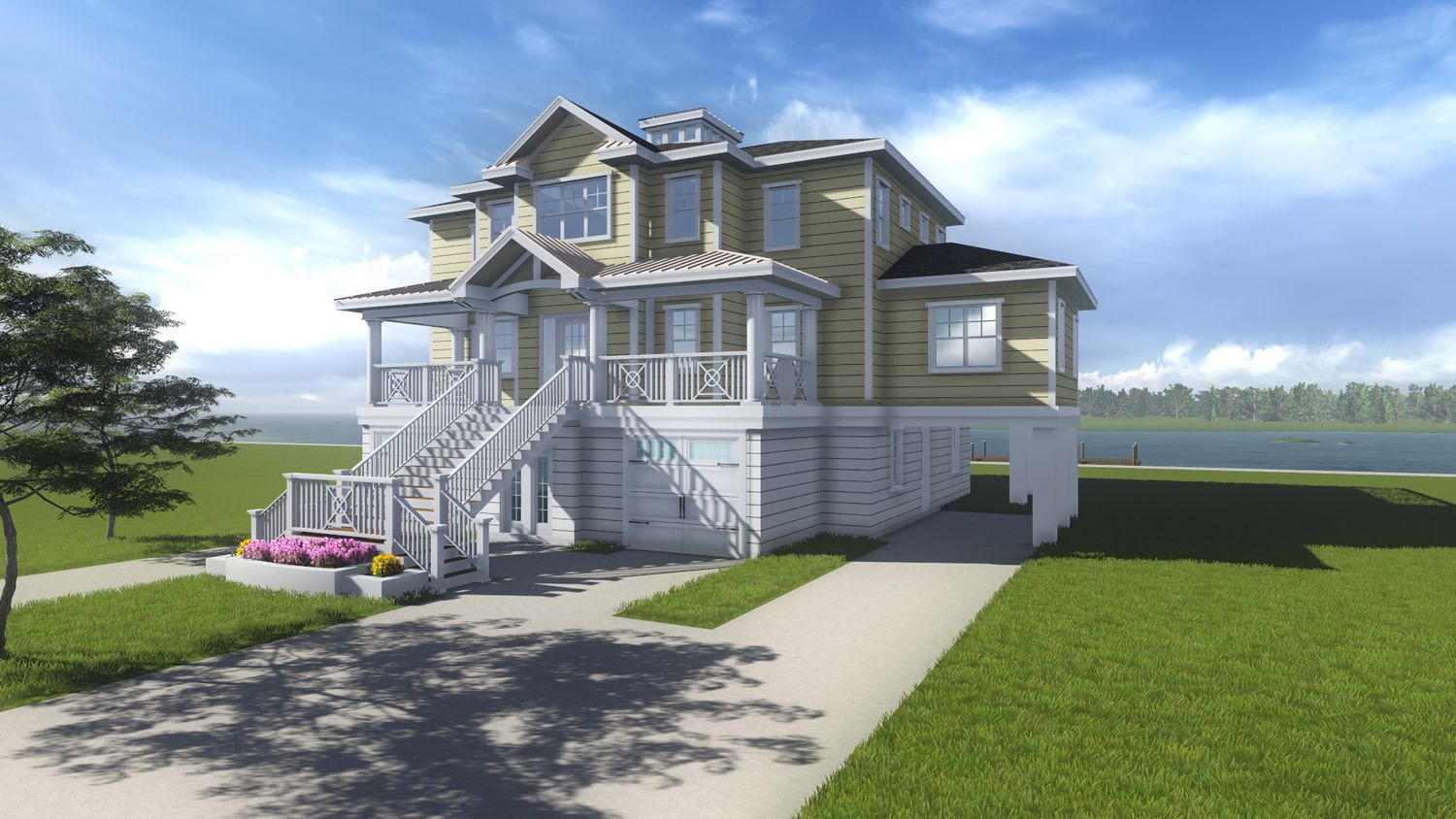 The hatteras home plan by turnstone custom homes in 1 for Custom beach house plans