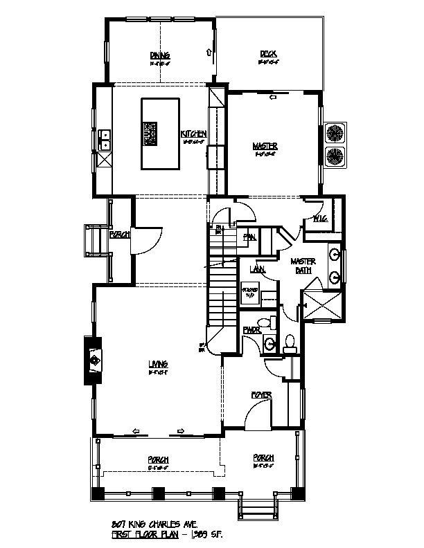 807 King Charles First Floor Plan
