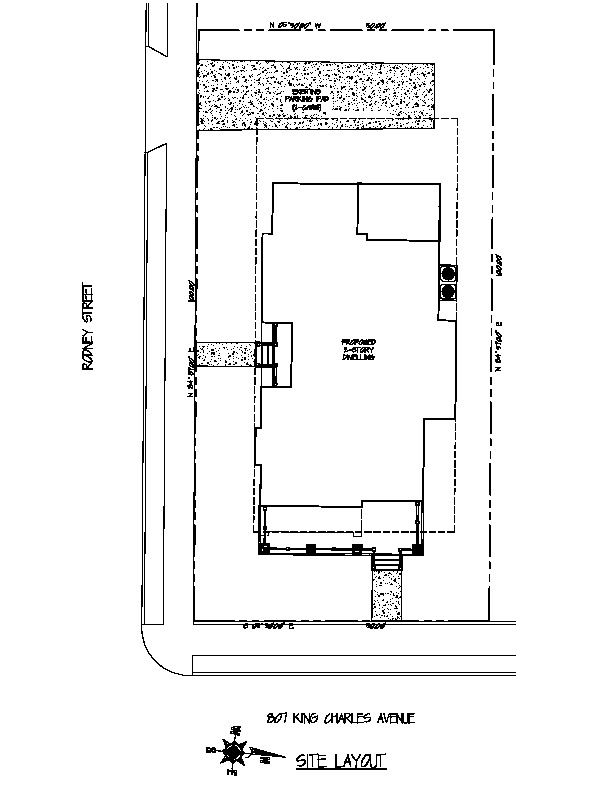 807 King Charles Site Plan