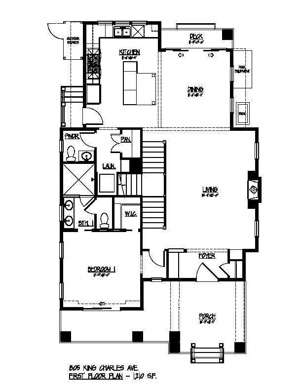 First Floor Plan - 805 King Charles