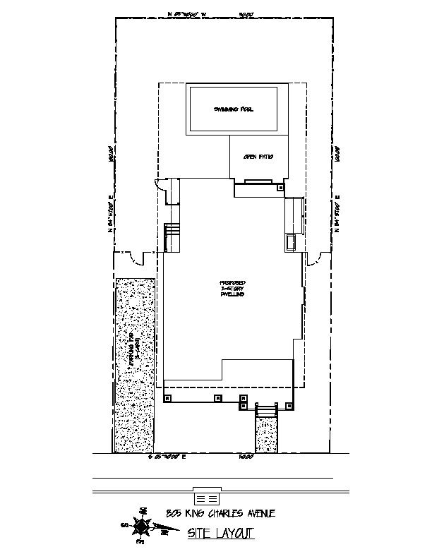 Site Plan - 805 King Charles