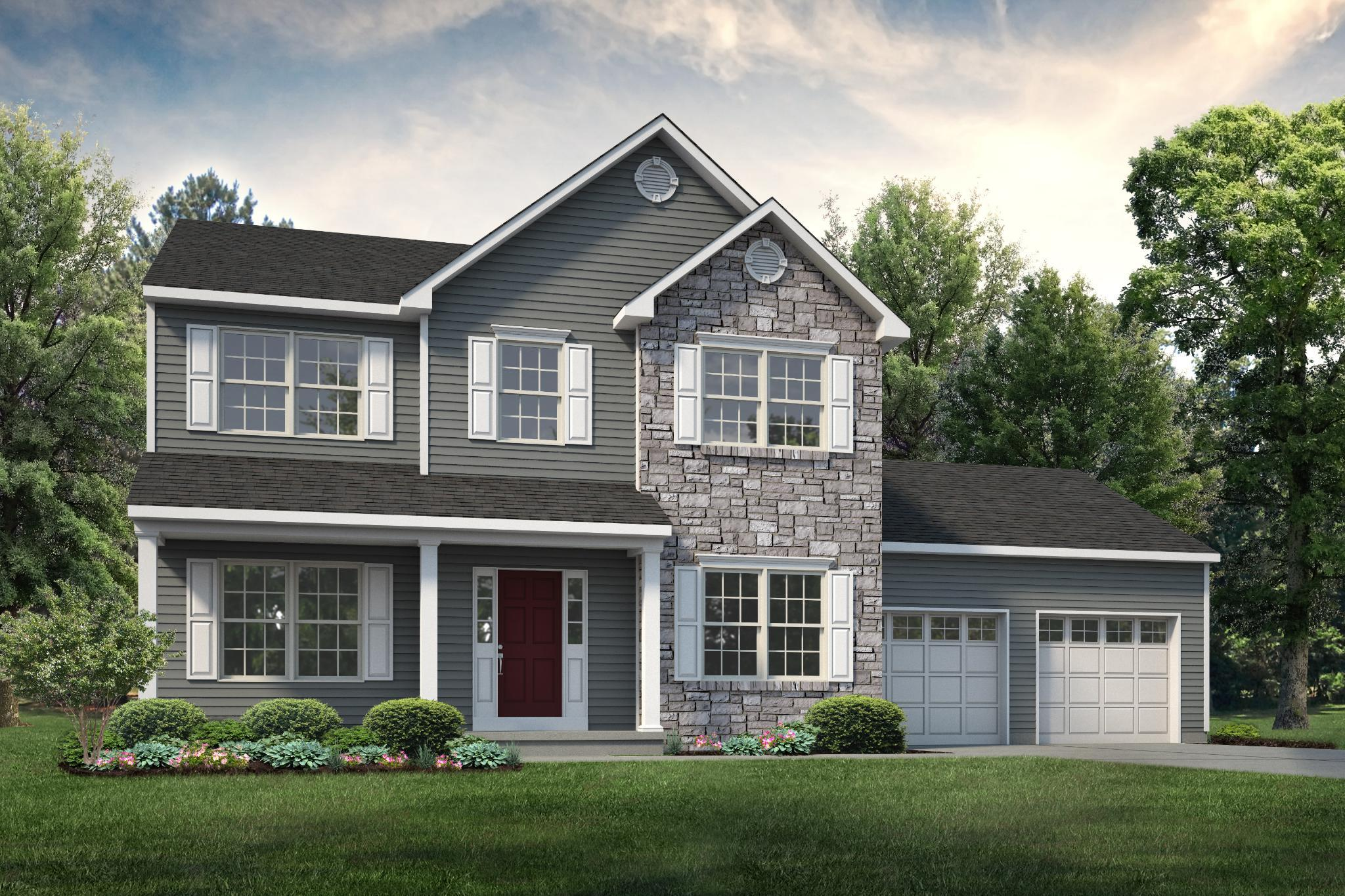 Exterior featured in the Kingston Country By Tuskes Homes in Allentown-Bethlehem, PA