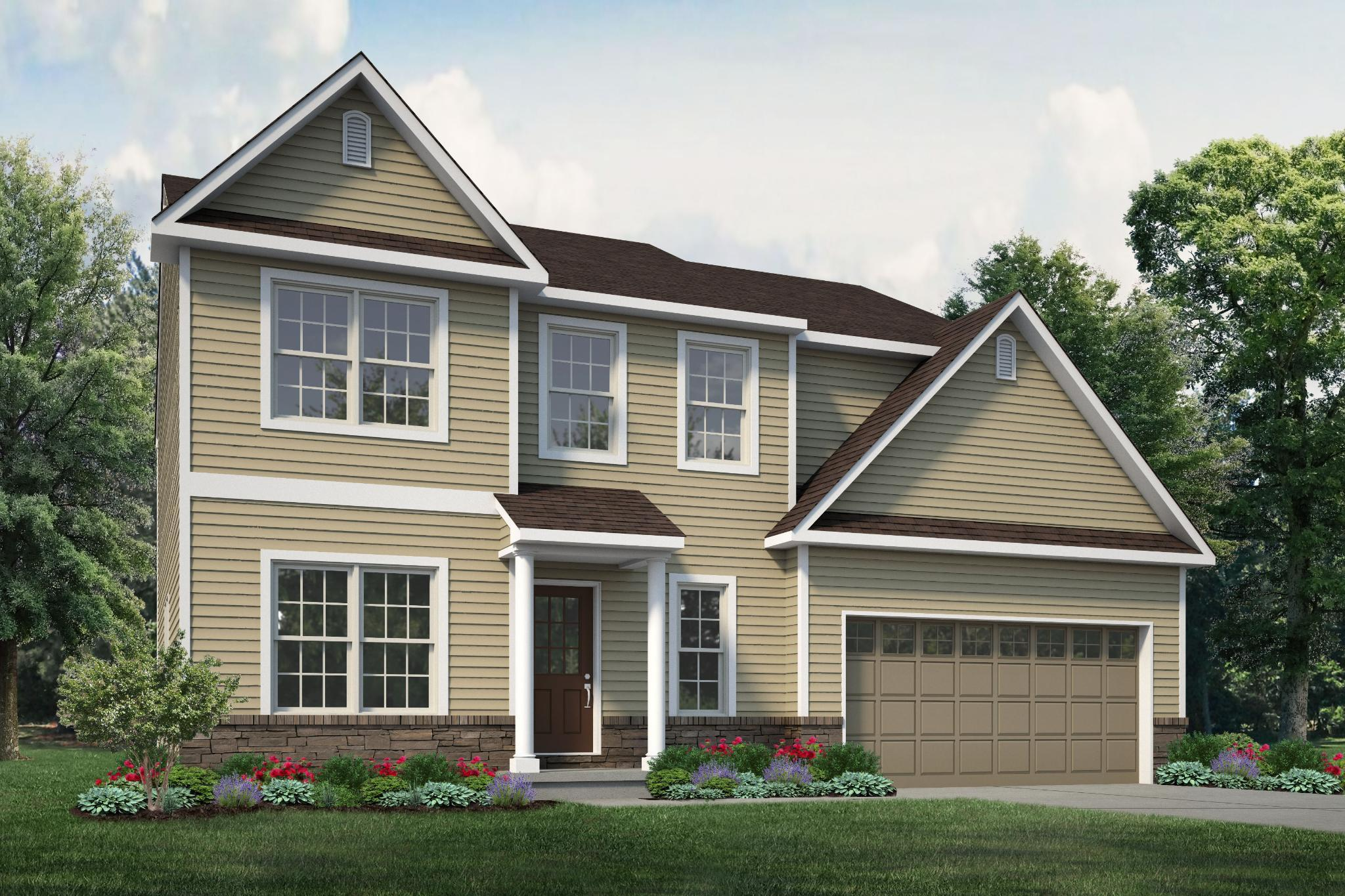 Exterior featured in the Madison Country By Tuskes Homes in Allentown-Bethlehem, PA