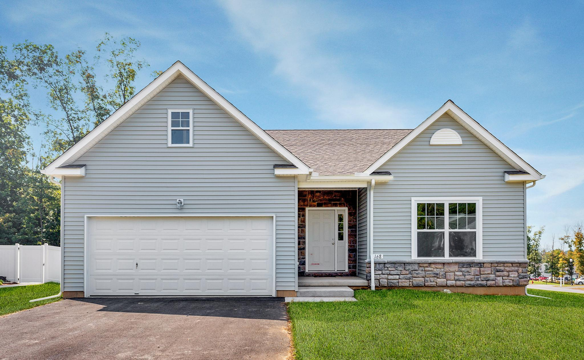 Exterior featured in the Pinehurst Traditional By Tuskes Homes in Scranton-Wilkes-Barre, PA