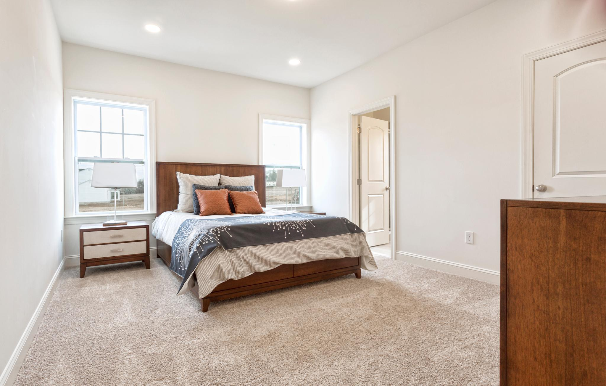 Bedroom featured in the Pinehurst Traditional By Tuskes Homes in Scranton-Wilkes-Barre, PA