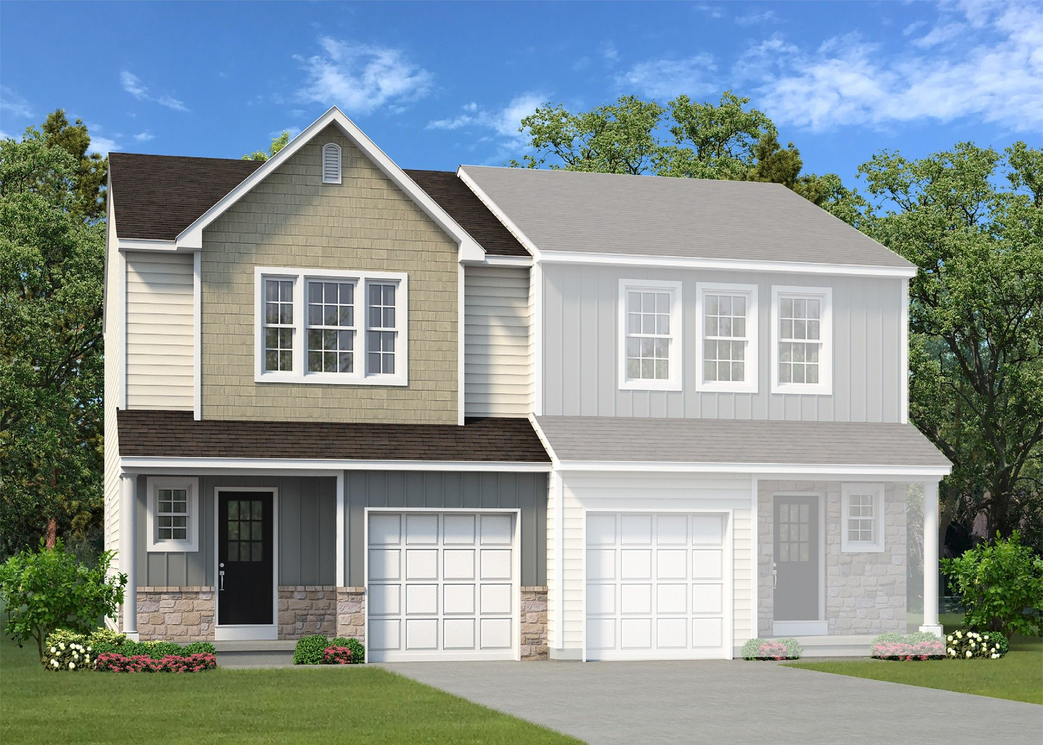 Exterior featured in the Towns at Woods Edge Cottage By Tuskes Homes in Scranton-Wilkes-Barre, PA