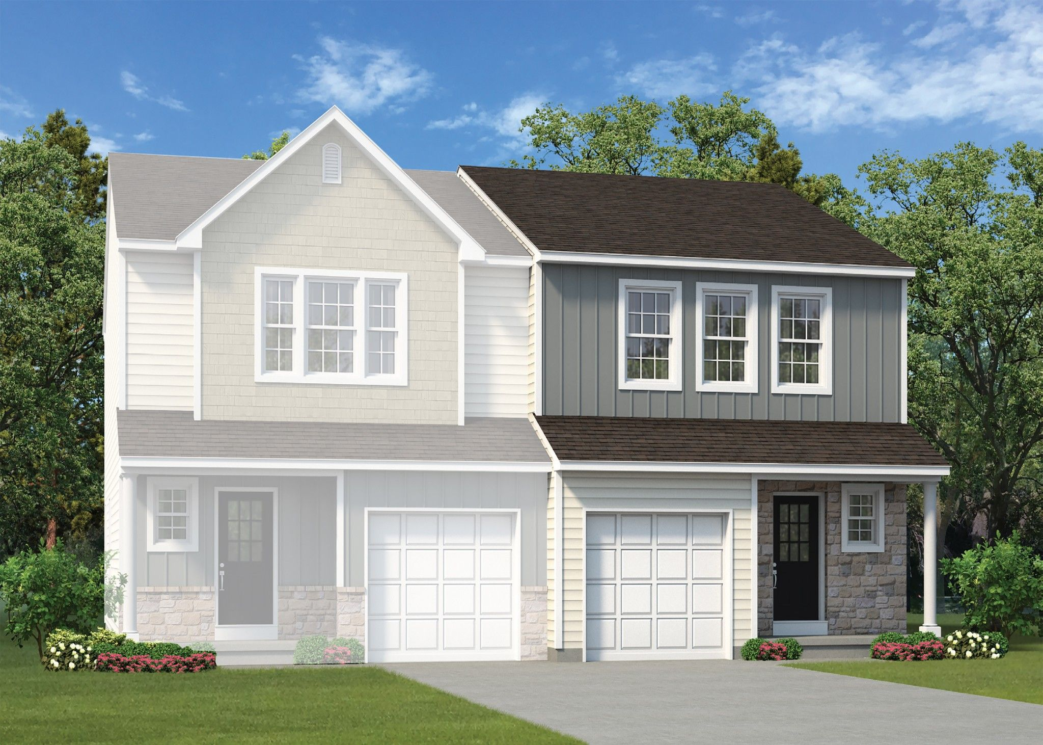 Exterior featured in the Towns at Woods Edge Craftsman By Tuskes Homes in Scranton-Wilkes-Barre, PA