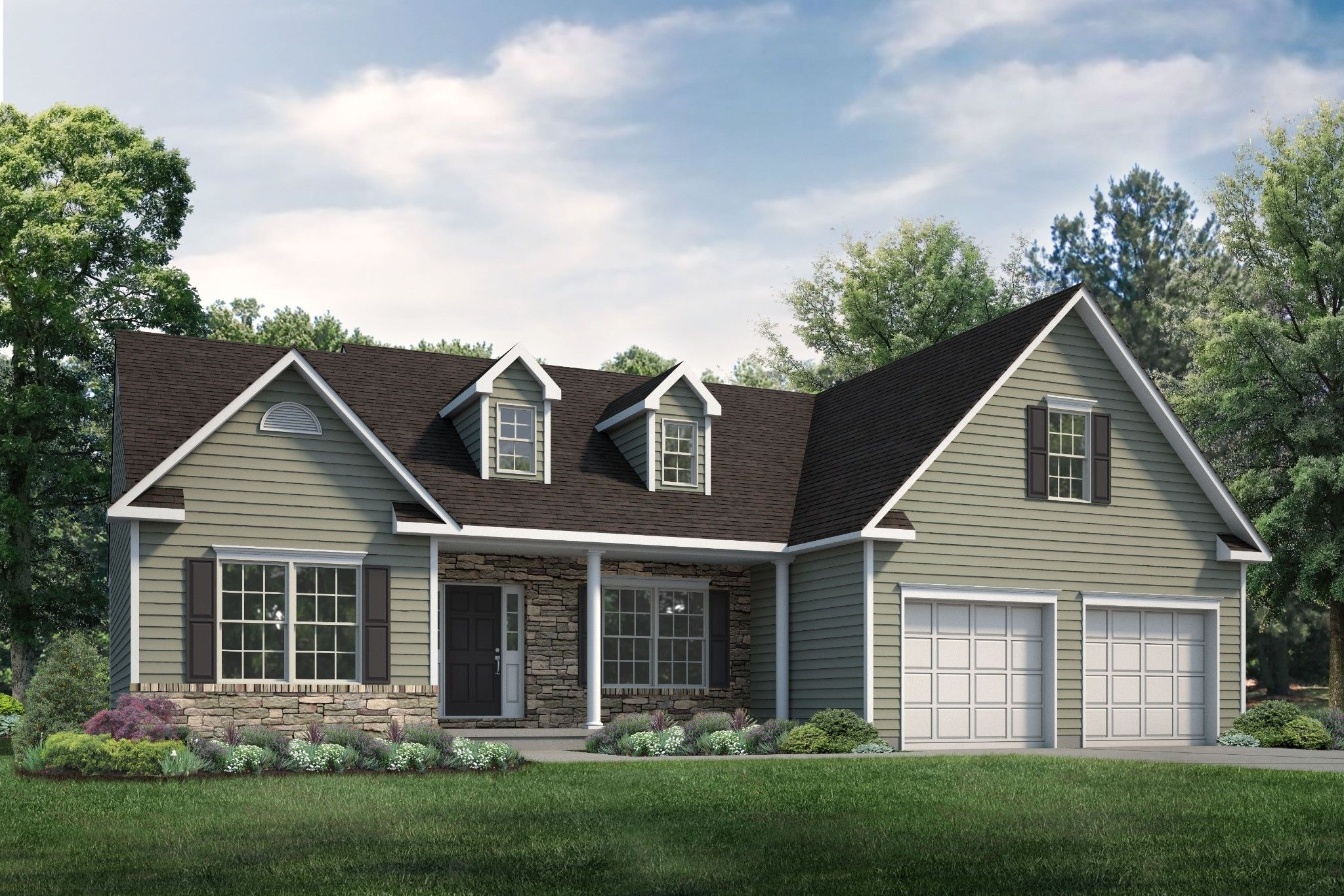 Exterior featured in the St. Andrews Traditional By Tuskes Homes in Scranton-Wilkes-Barre, PA