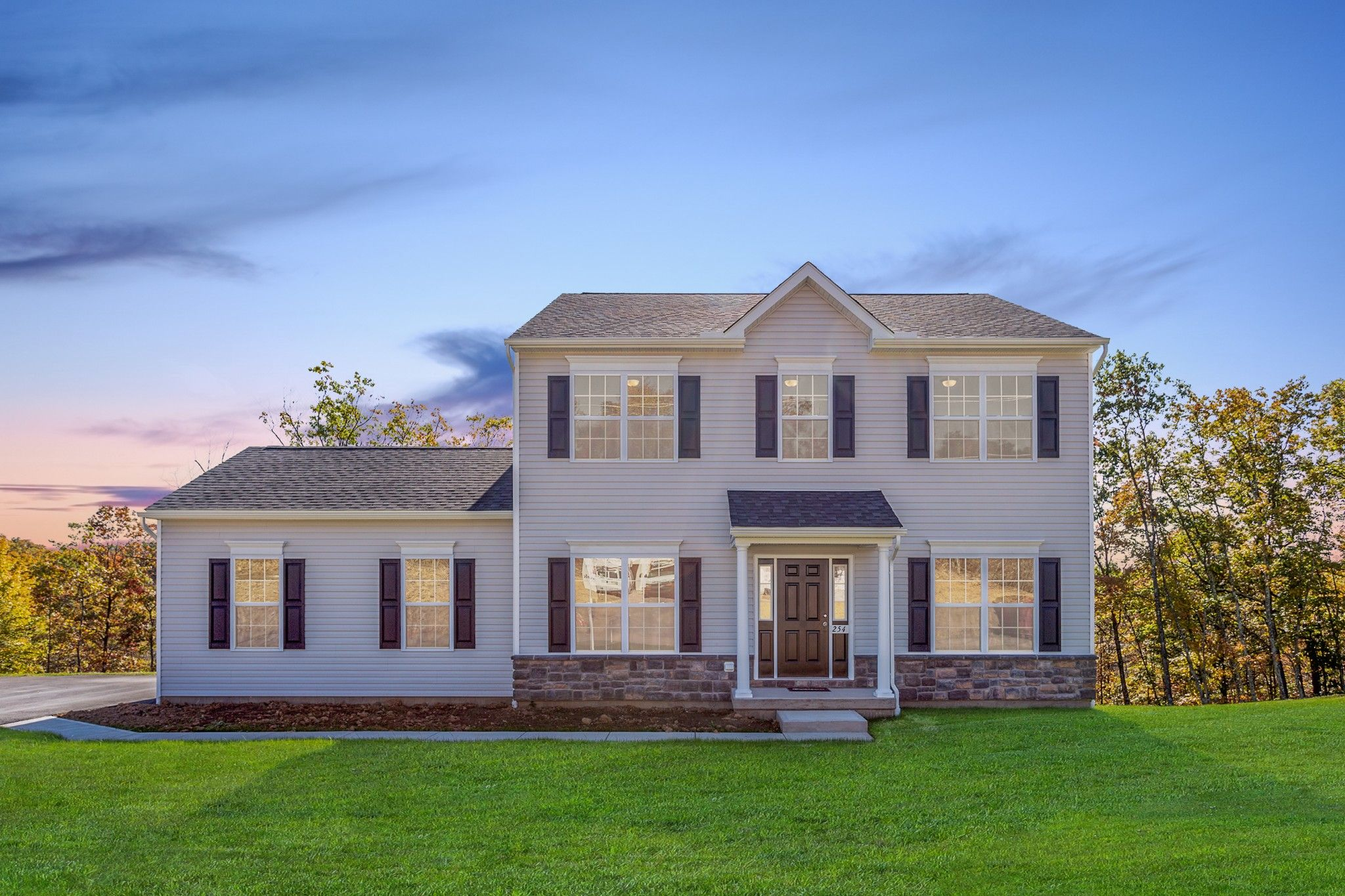 Exterior featured in the Chapman Traditional By Tuskes Homes in Scranton-Wilkes-Barre, PA