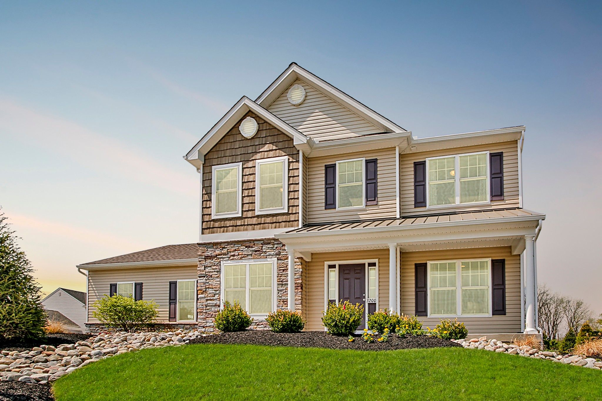 Exterior featured in the Kingston Traditional By Tuskes Homes in Allentown-Bethlehem, PA