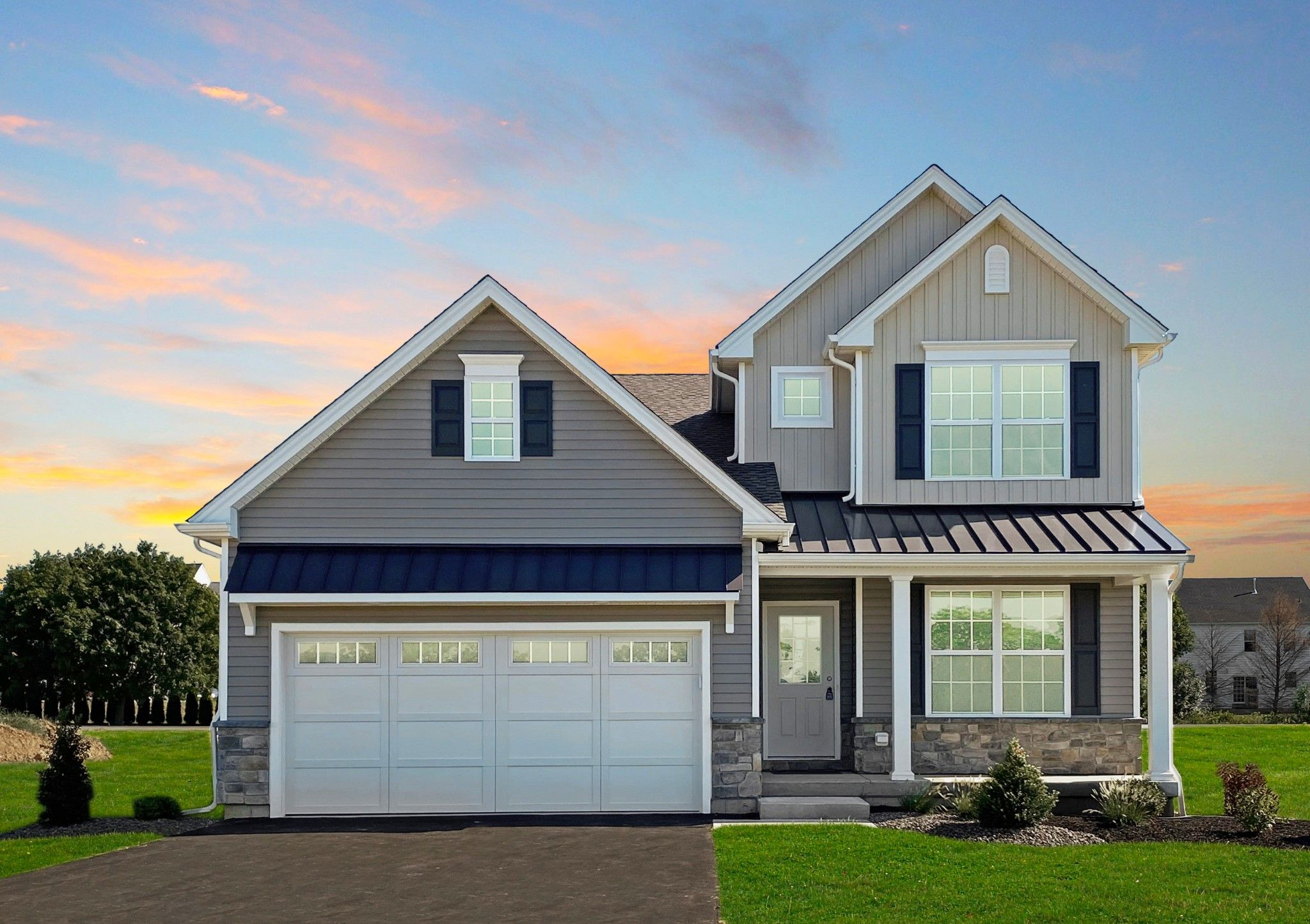 Exterior featured in the Franklyn Traditional By Tuskes Homes in Scranton-Wilkes-Barre, PA
