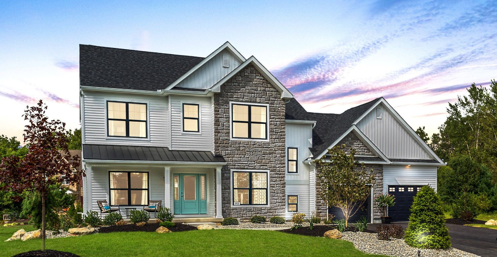 Exterior featured in the Bellwood Traditional By Tuskes Homes in Allentown-Bethlehem, PA