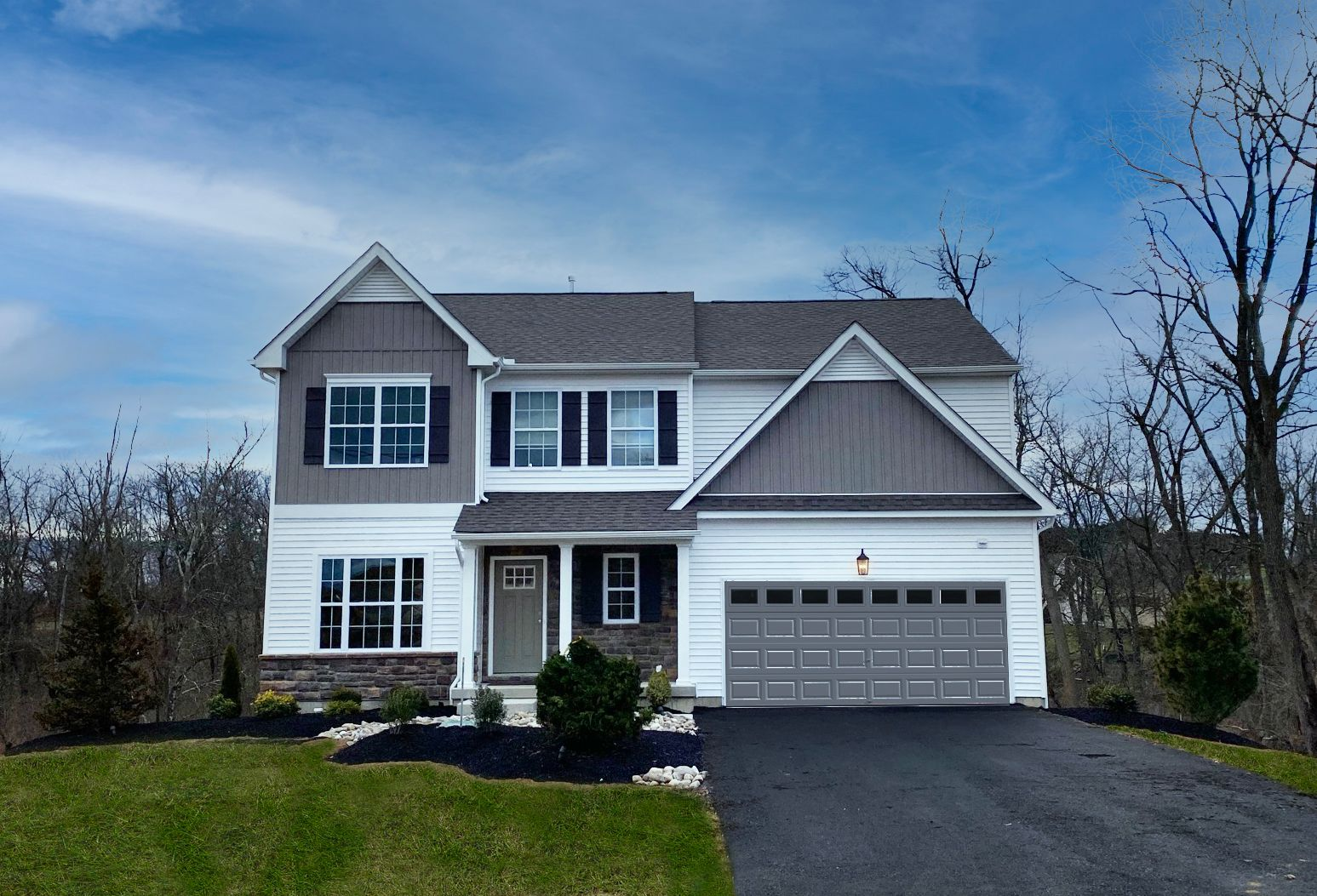Exterior featured in the Morgan Traditional By Tuskes Homes in Scranton-Wilkes-Barre, PA