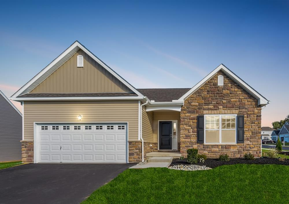 Exterior featured in the Pinehurst By Tuskes Homes in Scranton-Wilkes-Barre, PA