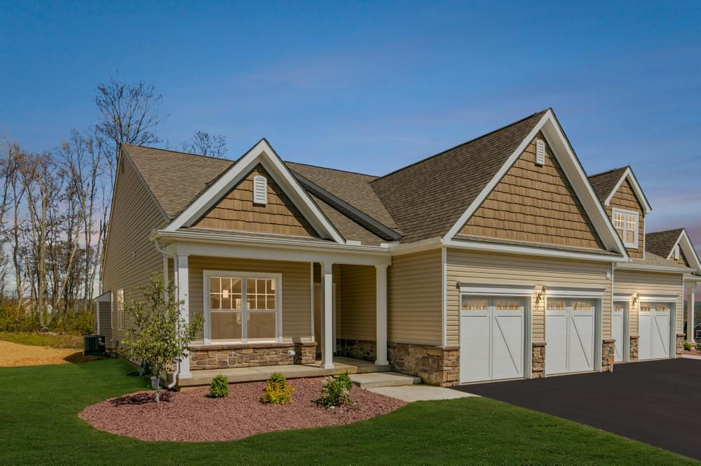 Exterior featured in the Reserve Inglewood II By Tuskes Homes in Scranton-Wilkes-Barre, PA