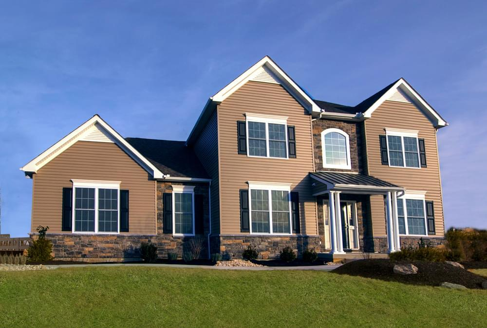 Exterior featured in the Meridian By Tuskes Homes in Allentown-Bethlehem, PA