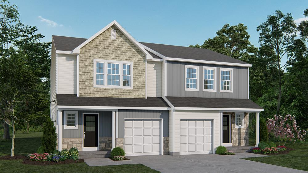Exterior featured in the Towns at Woods Edge By Tuskes Homes in Scranton-Wilkes-Barre, PA