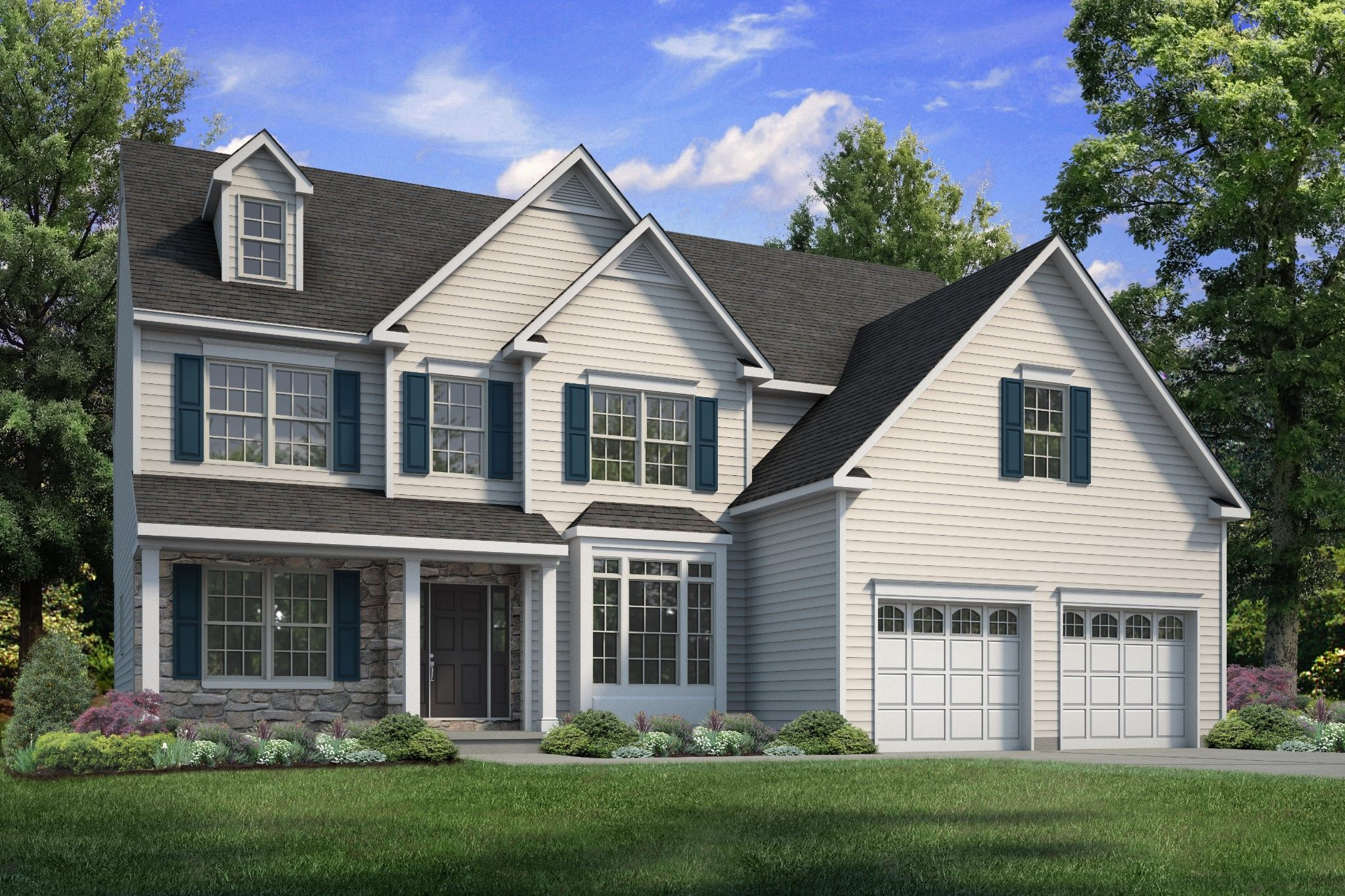 Exterior featured in the Breckenridge Grande Traditional By Tuskes Homes - Infill