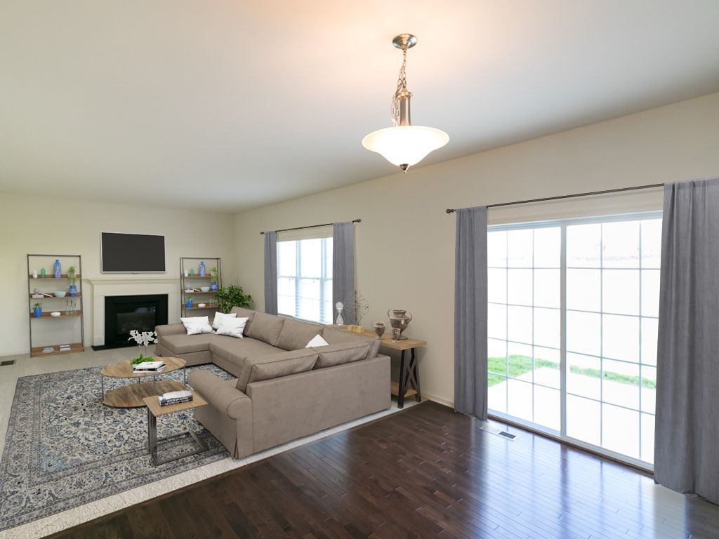 Living Area featured in the Madison Traditional By Tuskes Homes - Infill in Poconos, PA