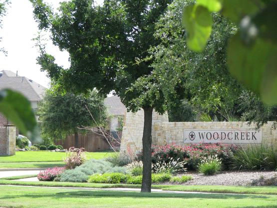 Woodcreek Entrance:Welcoming Entrance to Master Planned Woodcreek Community