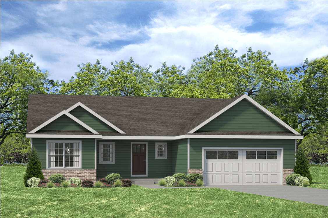 Exterior featured in the Douglas II By Unlimited Homes in Champaign-Urbana, IL