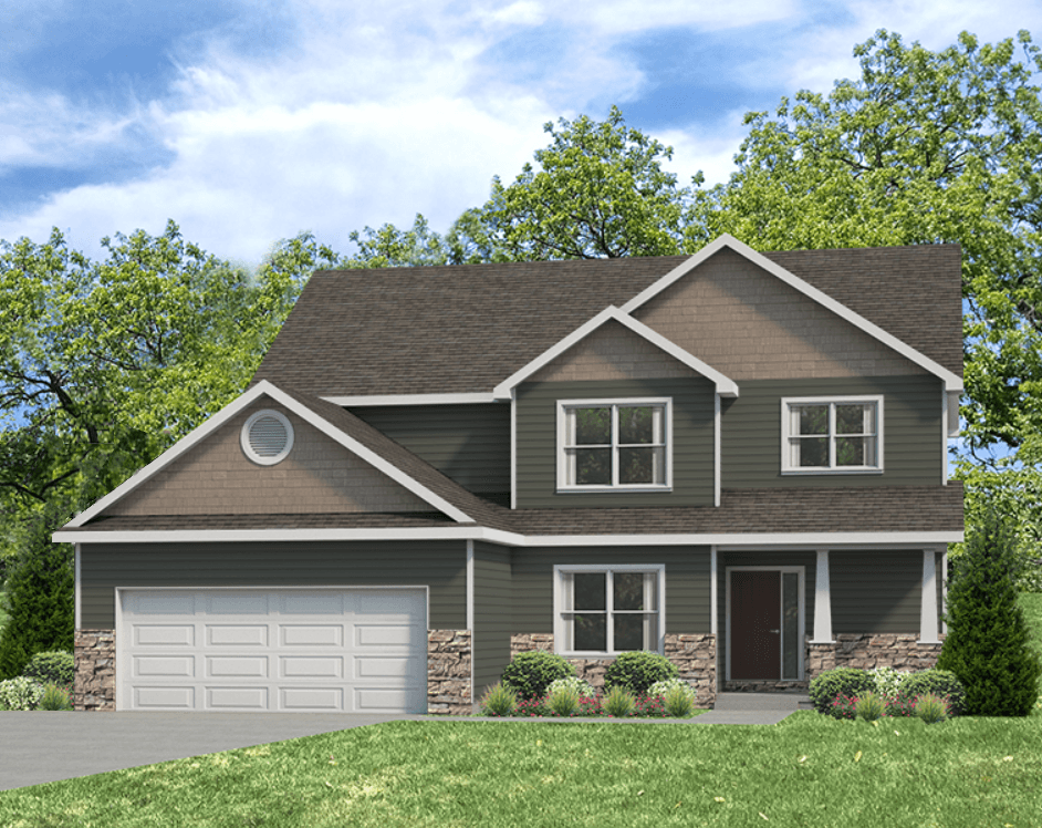Exterior featured in the Wellington By Unlimited Homes in Champaign-Urbana, IL