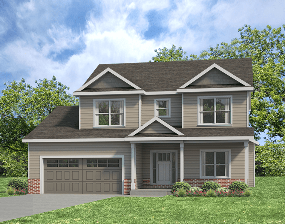 Exterior featured in the Ridgeland 2 By Unlimited Homes in Champaign-Urbana, IL