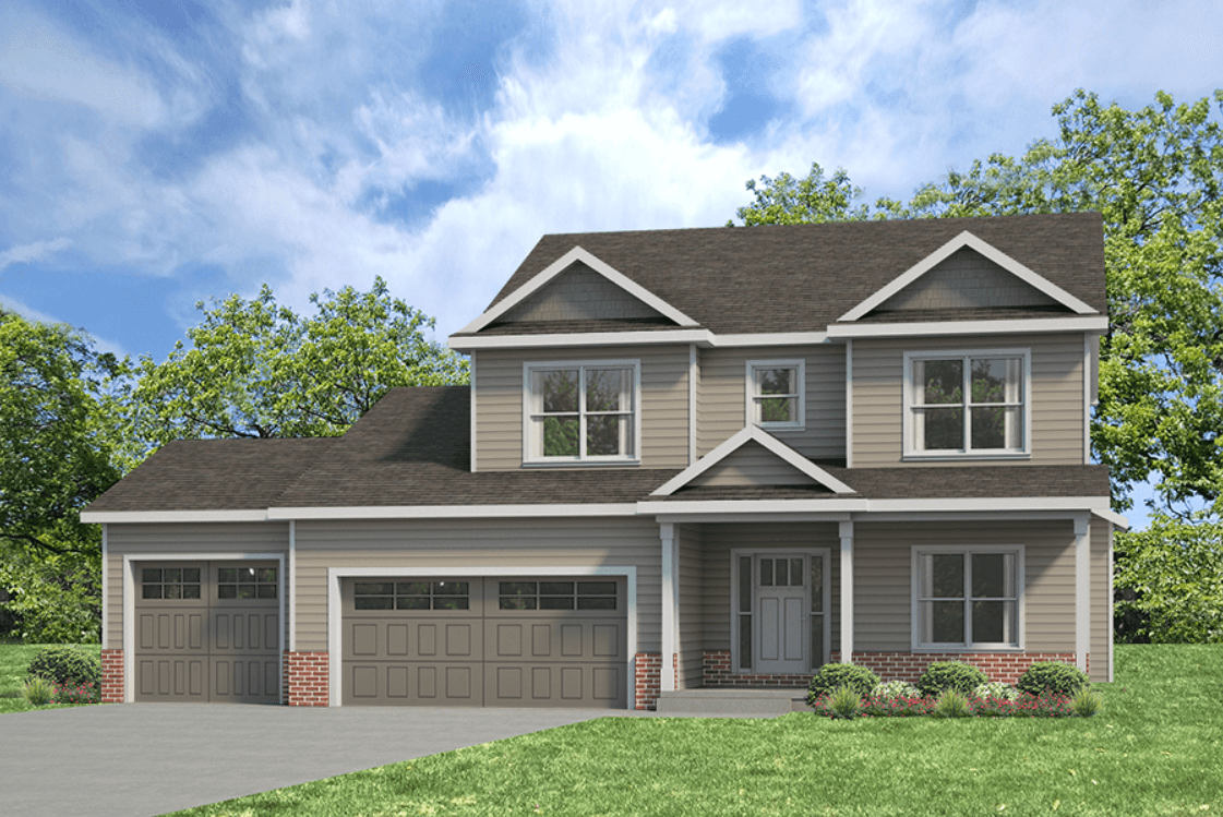 Exterior featured in the Ridgeland 3 By Unlimited Homes in Champaign-Urbana, IL