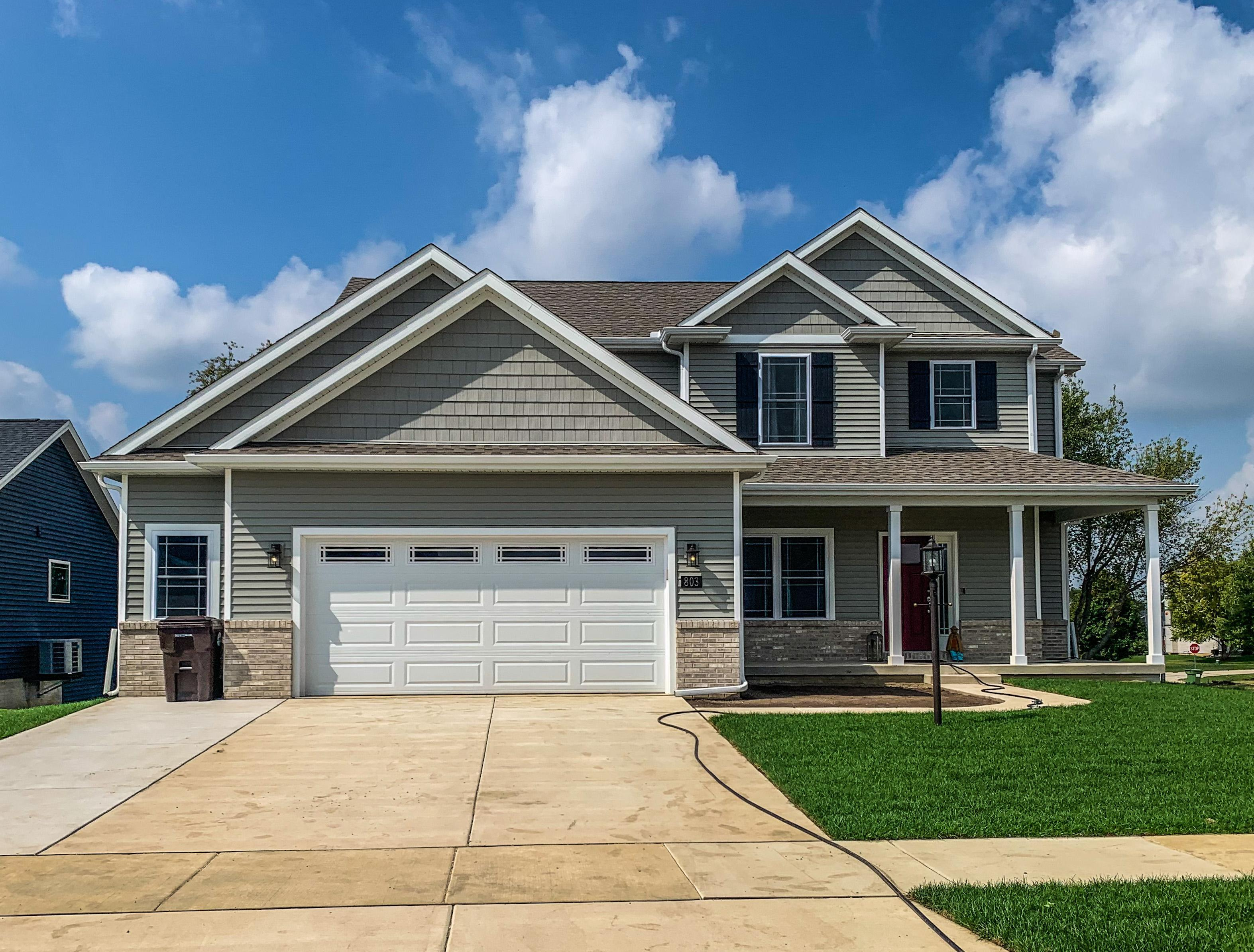 Exterior featured in the Clifton 2 By Unlimited Homes in Champaign-Urbana, IL