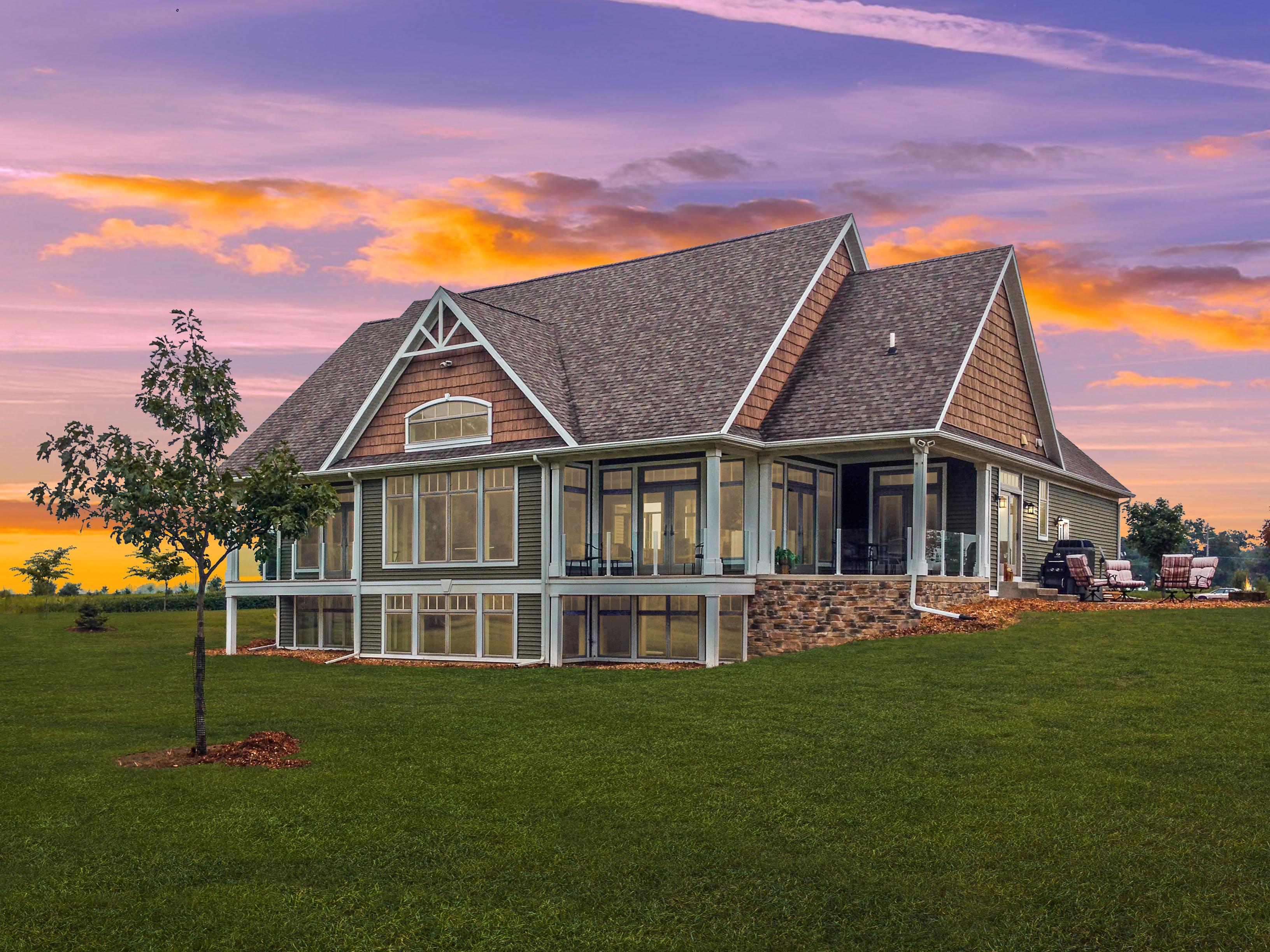 Exterior featured in the York By Unlimited Homes in Champaign-Urbana, IL