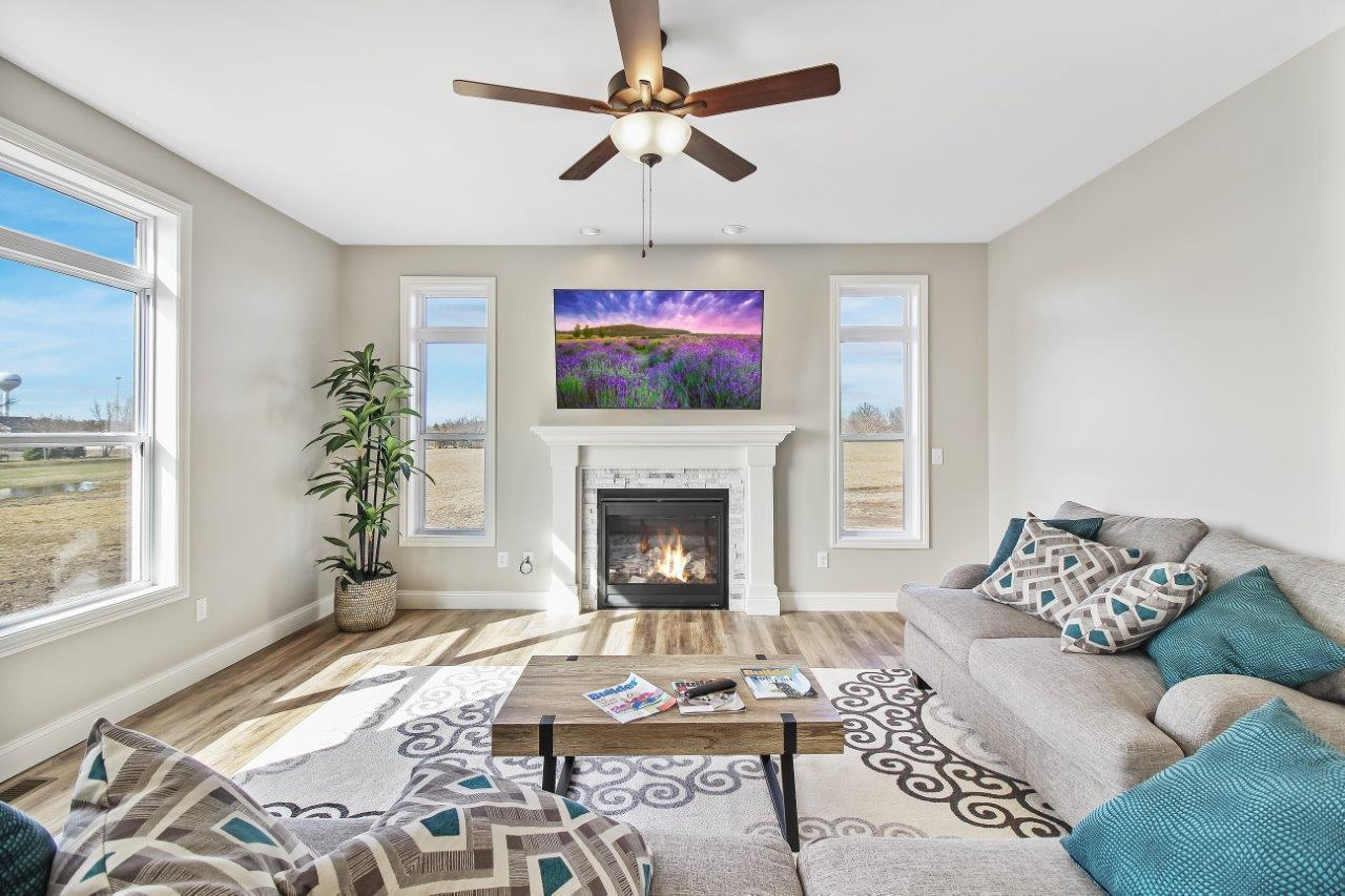 Living Area featured in the Greenbriar 2 By Unlimited Homes in Champaign-Urbana, IL