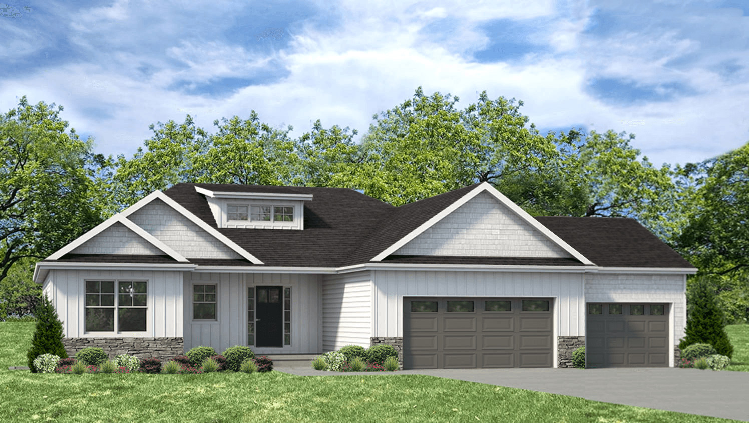 Exterior featured in the Douglas 3 By Unlimited Homes in Champaign-Urbana, IL