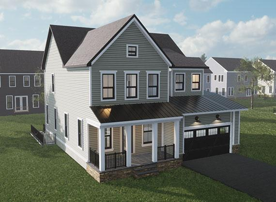 Exterior featured in the Grandin By Van Metre Homes in Washington, VA