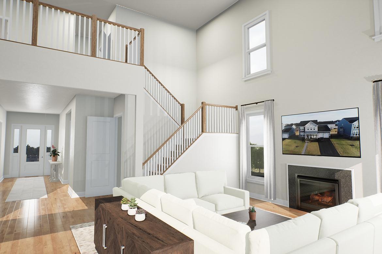 Living Area featured in the Oatland II By Van Metre Homes in Washington, VA
